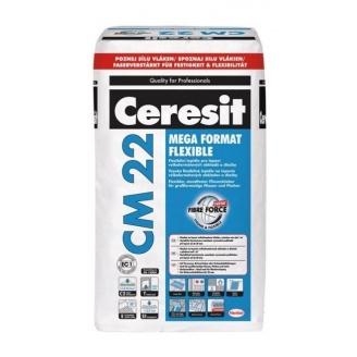 Клеевая смесь Ceresit CM 22 MEGA FORMAT FLEXIBLE 25 кг для плитки большого формата 1м2