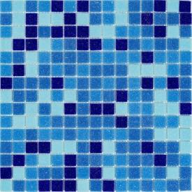 Мозаїка, скляна, Stella di Mare R-MOS B3132333537 мікс блакитний-5 на сітці 327x327x4 мм