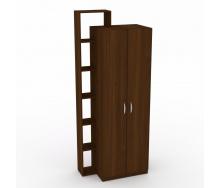 Шкаф-9 Компанит дсп орех-эко двухдверный с полочками