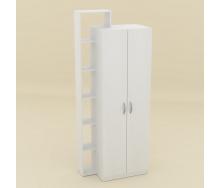 Шкаф-9 Компанит дсп белое-нимфеяальба двухдверный с полочками