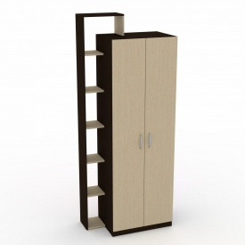 Шкаф-9 Компанит дсп венге двухдверный с полочками