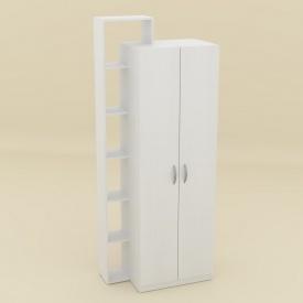 Шафа-9 Компаніт дсп біле-нимфеяальба дводверний з поличками