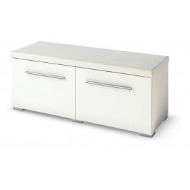 тумба с сиденьем 2ДМ Бьянко белый глянец + дуб сонома Мир Мебели