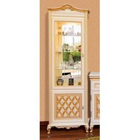 витрина 1Д Ливорно прованс белый Мир Мебели