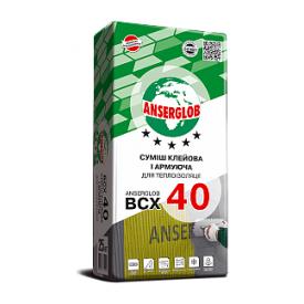 Клеевая шпаклевочная смесь для утеплителя Anserglob ВСХ-40 25 кг