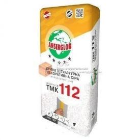 Декоративная штукатурка короед Anserglob ТМК-112 3,5 мм 25 кг серая