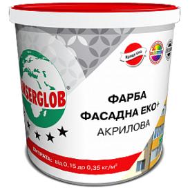 Краска фасадная Anserglob ЕКО+ акриловая 14 кг белая
