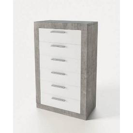 комод Омега 6Ш 1090х600х366мм індастріал + білий Світ меблів