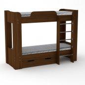 Двох'ярусне ліжко Компанит Твікс-2 77х152х210 горіх