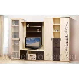 гостиная комплект №1 Сакура венге светлый + темный Мир Мебели