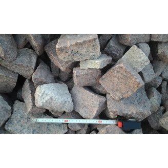 Камень бутовый НЕ отборный красный насыпью