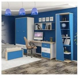 Детская стенка Лео Мебель-Сервис 297х59х208 синяя