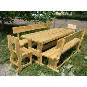 Меблі дерев`яні для дачі комплект великий дерев`яний 2000x800