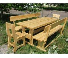 Мебель деревянная для дачи комплект большой деревянный 2000x800