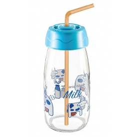 Бутылка для молока Sarina с трубочкой 250 мл (S-771-2)