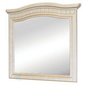 зеркало Николь белое дерево патина Мир Мебели