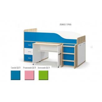 Кровать-горка Лео Мебель-Сервис 205х113х116 синяя