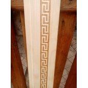 Наличник дверний металевий 70х10 мм з декоративним тисненням грецьке плетіння