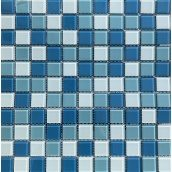 Мозаїка VIVACER мікс прозоре скло 2,5х2,5 CMmix02R 30х30 см