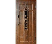 Двери входные Redfort АРКА улица с ковкой Стандарт плюс дуб бронзовый 860х2040 мм