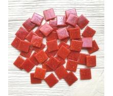 Скляна мозаїка Eco-Mosaic 20х20 мм 33х33 см червона (NA902)