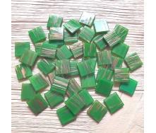 Скляна мозаїка Eco-Mosaic 20х20 мм 33х33 см зелена (GA403)