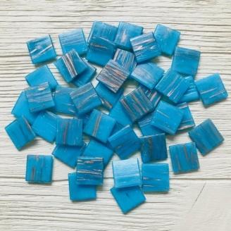 Скляна мозаїка Eco-Mosaic 20х20 мм 33х33 см блакитна (GA303)