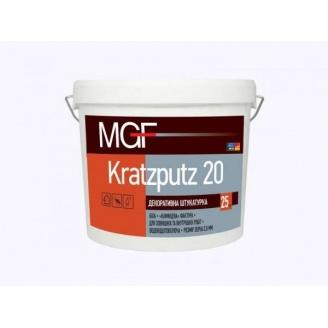 Штукатурка акриловая MGF Kratzputz барашек 1,5мм 25кг