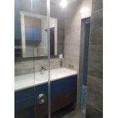 Стільниця індивідуальна у ванну кімнату суцільнолита з чашею човен велика 770х340 мм