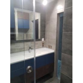Стільниця індивідуальна у ванну кімнату суцільнолита з чашею Персія 770х340 мм 110 мм