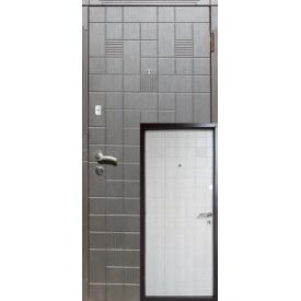 Двері вхідні Redfort КАСКАД Оптима плюс венге/дуб немо латте 870х2060 мм