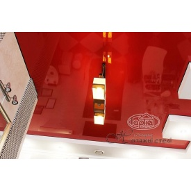 Натяжна стеля глянцева 0,17 мм червона