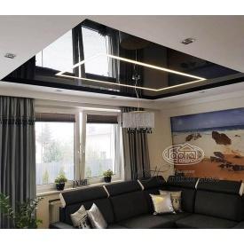 Натяжной потолок глянцевый 0,17 мм черный