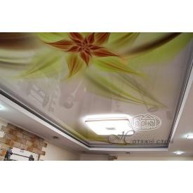 Монтаж натяжного потолка с фотопечатью