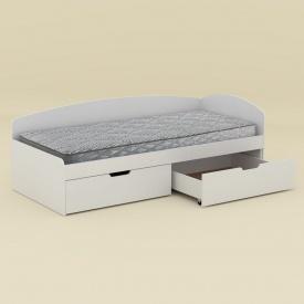 Кровать Компанит-90+2С 203х70х94 нимфея альба