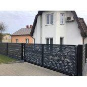 Ворота откатные декоративные 3 мм