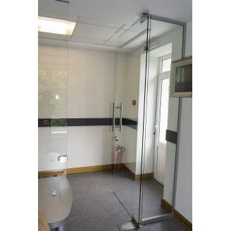 дверь стеклянная для офиса 10 мм