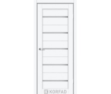 Дверное полотно Korfad PORTO PR-02 белый перламутр сатин белый 700х2000 мм Sincrolam