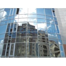 Скляний фасад з каркасом із алюмінієвого профілю Аlutech F 50