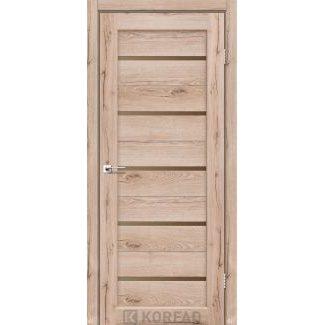 Дверное полотно Korfad PORTO PR-02 дуб тобакко сатин бронза 700х2000 мм Sincrolam