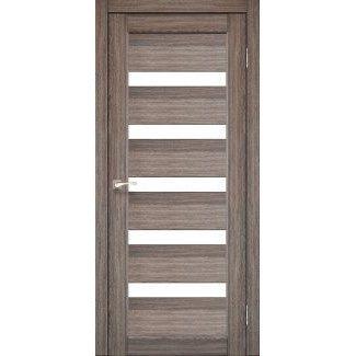 Дверное полотно Korfad PORTO PR-03 дуб грей сатин белый 700 х2000 мм Sincrolam