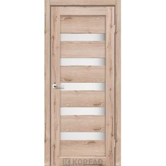 Дверне полотно Korfad PORTO PR-03 дуб тобакко сатин білий 700 х2000 мм Sincrolam