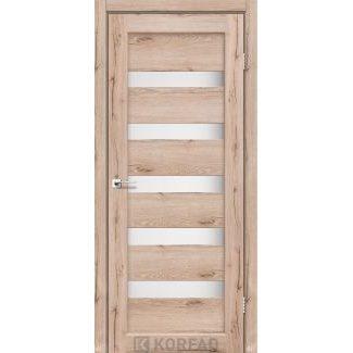 Дверное полотно Korfad PORTO PR-03 дуб тобакко сатин белый 700 х2000 мм Sincrolam