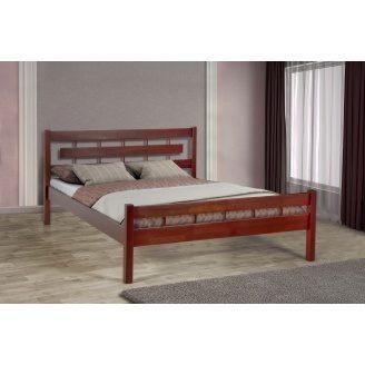 Двуспальная кровать Альмерия Элеганс 2000х1600 мм бук темный