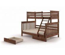 Трехместная кровать Скандинавия Уют 2120х1700 мм двухярусная деревянная