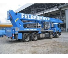 Аренда автовышки Scania R490 Ruthmat Steiger 600 60м