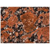 Плитка полірована гранітна Капустинського м-я Rosso Santiago 600x300x17мм
