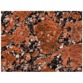 Плитка гранитная полированная Капустинского м-я Rosso Santiago 600x300x17мм