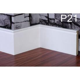 Плинтус PlintMart МДФ 100х12 белый Р21