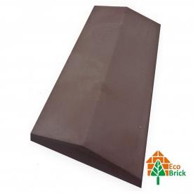 Конек для забора бетонный 680х220 мм коричневый